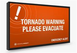 campus safety, alert notification, digital signage, industry weapon