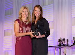 Kate Herman, NBJ, and Tiffany Dunn, of Loeb & Loeb LLP at the NBJ's Women in Music City Awards