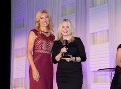 Kate Herman, NBJ, and Cindy Mabe, of UMG Nashville, at the Women in Music City Awards