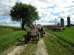 Farm tour hosted by Organic Meadow