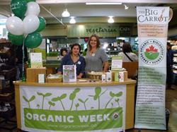 Big Carrot's Organic Week display