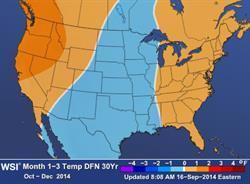 North America WSI Forecast October-December 2014