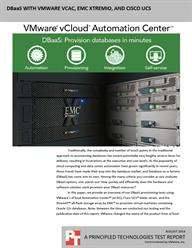 VMware vRealize Automation makes it easy to provision database VMs without sacrificing control, security, or flexibility.