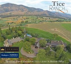 Tice Ranch in Twisp, WA, aerial view