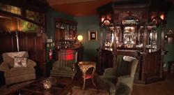 19th century English pub in the Main Lodge, Tice Ranch.