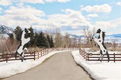 Entry, Tice Ranch during winter.