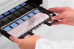 Huron Digital Pathology's slide holder system sets the standard for scanning versatility and safe handling of slides.