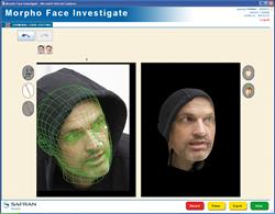 MorphoFace Investigate software reconstructing a face