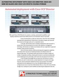 Cisco UCS Director saved time and reduced the risk of error.