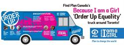 """Because I am a Girl """"Order Up Equality"""" Truck"""