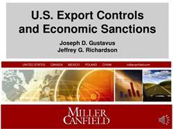 U.S. Export Controls and Economic Sanctions