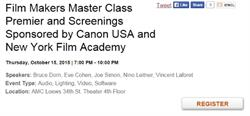 Film Makers Master Class Premier and Screenings