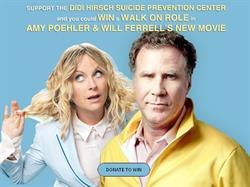 Fans of Amy Poehler and Will Ferrell can win a walk-on role by making a $10 entry donation