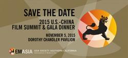 Asia Society Southern California will present the Sixth Annual U.S.-China Film Summit on Thursday, November 5, 2015.