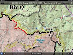 An operations map used near Mt. Shasta shown on Avenza PDF Maps app