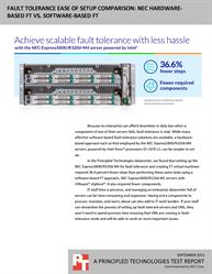 Better performance with this hardware based fault-tolerant solution from NEC