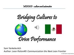Workshop on Bridging Cultures in Mexico's Automotive Supply Chain to be Held Nov. 6 in Troy, MI