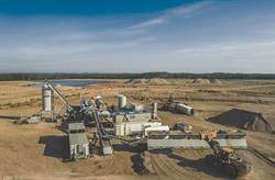 Overhead view of Ledcor's new RAP-capable plant