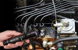 TP-OPTI-LUX LED leak detection flashlight spots leaks in heavy duty vehicles