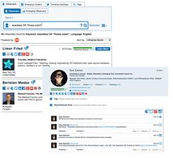 Screen shots of key influencer posts in Marketwired Influencers.