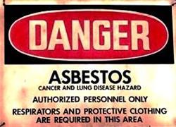 Asbestos Waring Sign