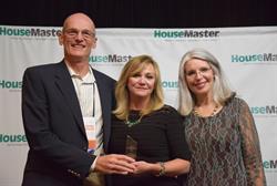 HouseMaster President Kathleen Kuhn with Mark & Mary Helen Thompson, Franchise Owners.