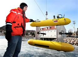 David Shea, Kraken's Vice President of Engineering, overseeing deployment of SQX-500 Unmanned Underwater Vehicle