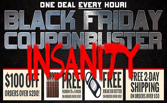 Famous Smoke Shop Presents Black Friday Couponbuster Insanity