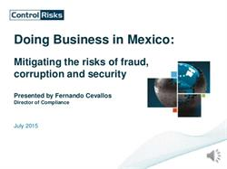Doing Business in Mexico: Mitigating the risks of fraud, corruption and security