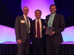 AtNetPlus CEO Jay Mellon (left) and President Jim Laber (right) with Robert Filipiak, Executive Director of Cascade Capital Corporation.