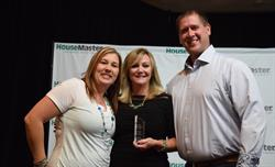 HouseMaster President, Kathleen Kuhn and Franchise Owners Brad and Kathy Horstman.