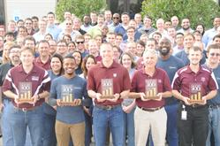 PinnacleART Team Holds Aggie 100 Awards