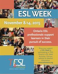 TESL Ontario 2015 ESL Week Poster