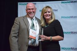 HouseMaster President, Kathleen Kuhn and Franchise Owner Rich Spraggs.