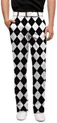 loudmouth men's pant black & white