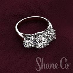 Shane Co. Three-Stone Diamond Ring