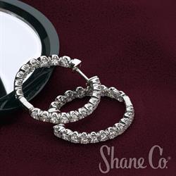 Shane Co. Diamond Hoop Earrings