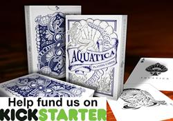 Aquatica Playing Cards on Kickstarter for Magicians and cardistry cardists and collectors