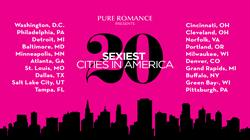 Pure Romance reveals the Top 20 Sexiest U.S. Cities with Washington, D.C. on top.
