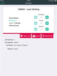 The abas ERP TCI Mobile App Interface
