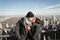 New York City Christmas Marriage Proposal at Rockefeller Center with a Shane Co. Engagement Ring