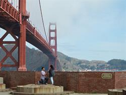 San Francisco Golden Gate Bridge Marriage Proposal with Shane Co. Engagement Ring