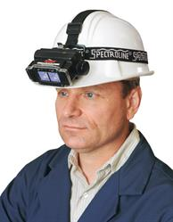The EE-365 EagleEye lamp can be worn on a hard hat for hands-free operation