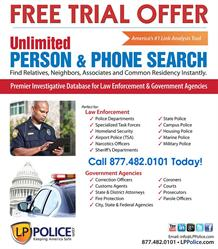 FREE TRIAL - LP Police Investigative Database