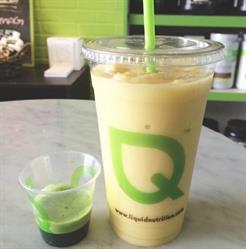 Organic Smoothie and Wheatgrass shot