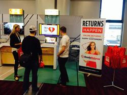 TrueShip gives live demonstrations of Ready Returns product returns software at the Magic Convention in the South Hall S3 Lobby.