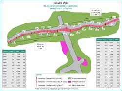 Figure 2:  Jessica Vein Channel Sample Locations