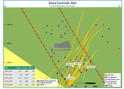 Figure 5:  Santa Gertrudis Vein Cross Section