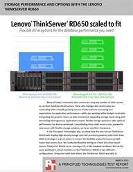 UPDATE - Lenovo ThinkServer RD650 offered flexible drive options and high performance