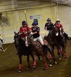 Cornell and Virginia players in USPA Intercollegiate Polo Title Match